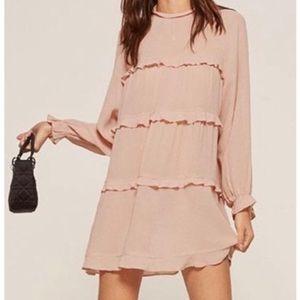 REFORMATION Victoria Ruffle Mini Dress NWT